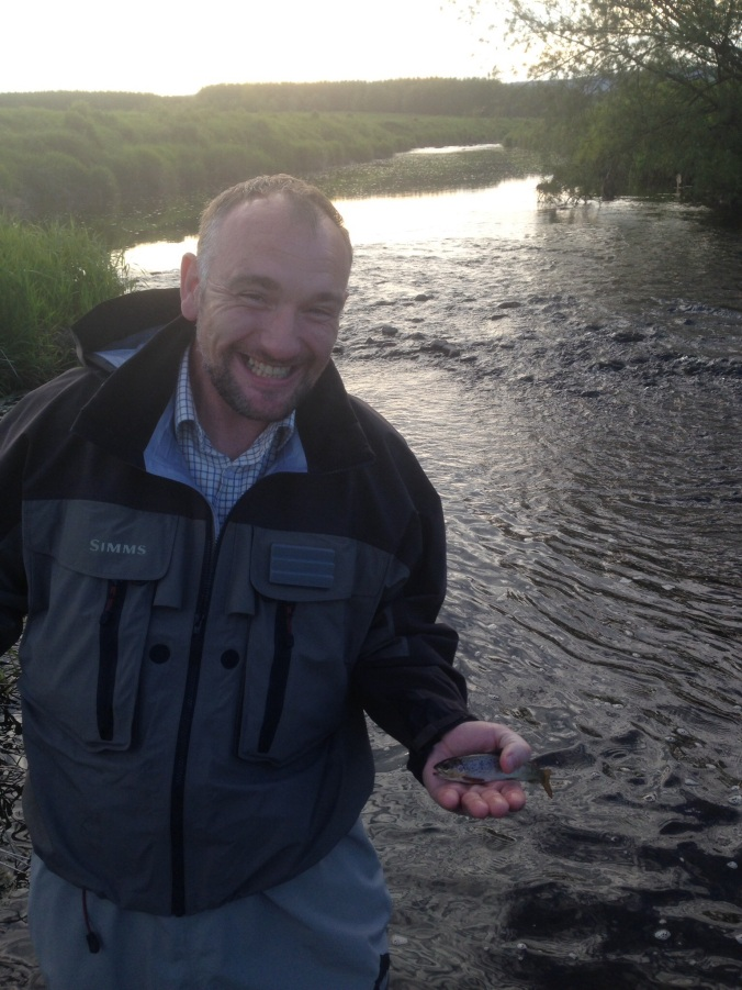 The smile says it all! Phil a very happy man with his first Wild Brownie it might be small but its beautiful