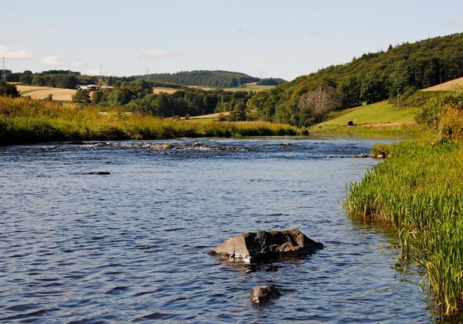 Rowe head Pool, looking NorthWest upstream